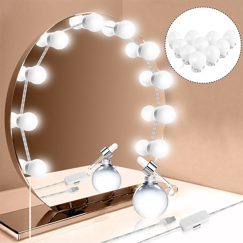 Makeup Mirror.Hollywood Dress Mirror 10led Light Bulb Makeup Vanity Light