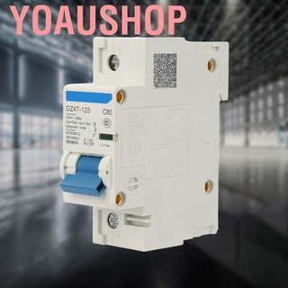 DZ47-125 Miniature Circuit Breaker Leakage Protection Air Switch 3P Current Circuit Breaker 400V 80//100//125A 100A Optional