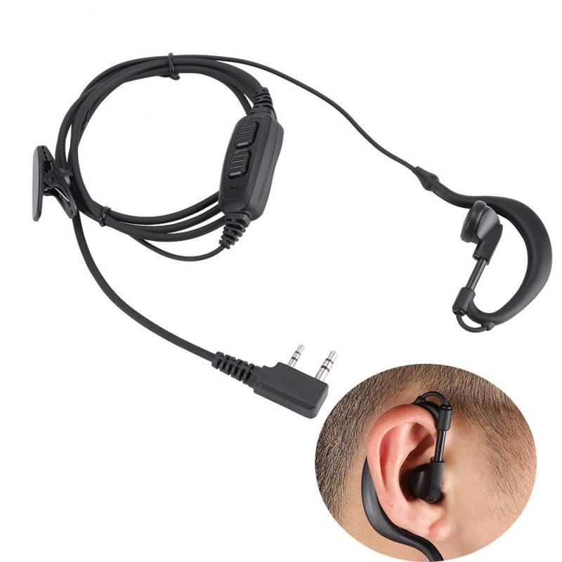 Ear Hook Earpiece Headset BAOFENG UV-82 UV-89 Double PTT earpiece mic US STOCK