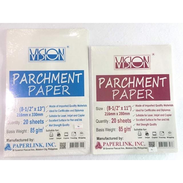Vision Parchment Paper