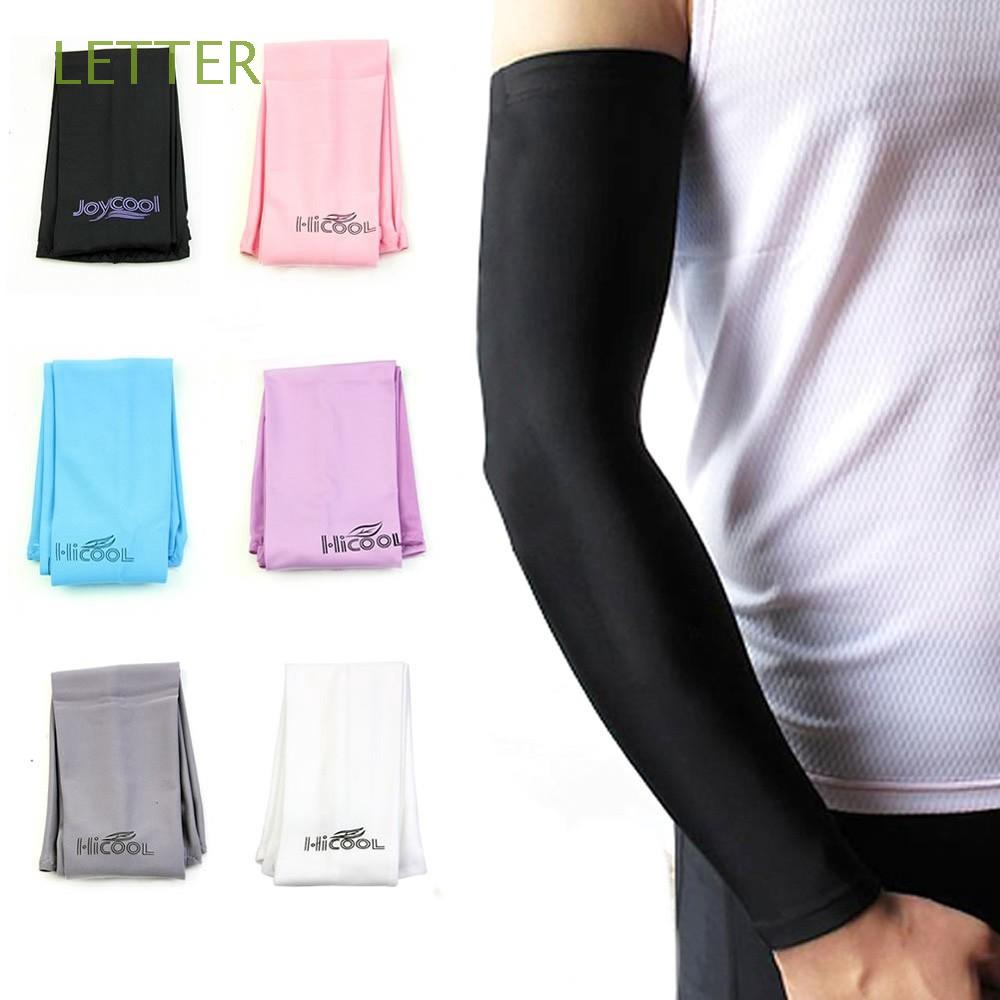 2 Pairs Tactel Cooling Arm Sleeves Cover Sun UV Pair Protection Sports Outdoor