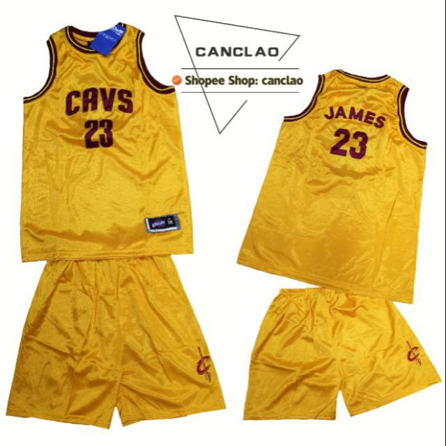 sports shoes 5506b 7d56c NBA Jersey terno for kids CAVS #23 James yellow