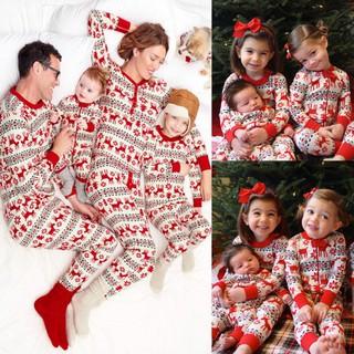 Family Christmas Pajamas With Baby.Family Christmas Pajamas Paternity Suit Mom Baby Shopee
