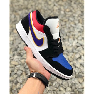 Air Jordan 1 Low Gym Red Black White Basketball Shoes 553558 610 Shopee Philippines