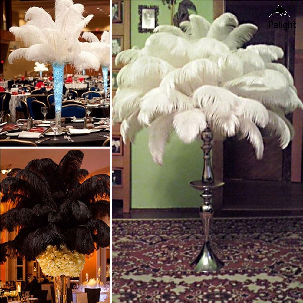 10Pcs Large Ostrich Feathers Costume Birthday Wedding Party 30-35cm Decor Beauty