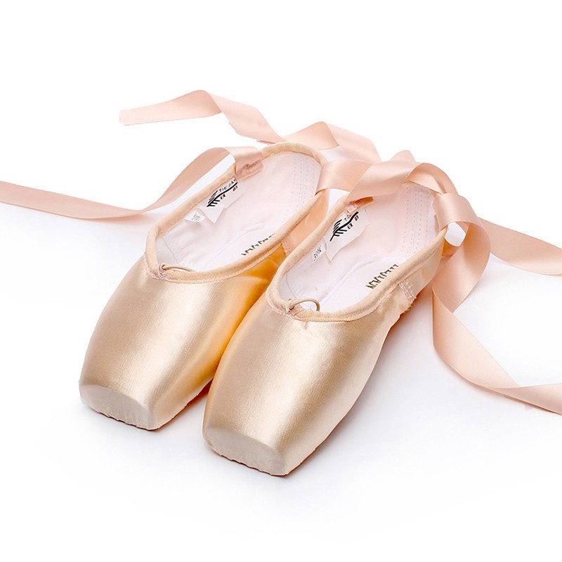 1f9efbe18409 Women Ballet Dance Toe Professional Lady Satin Pointe Shoes