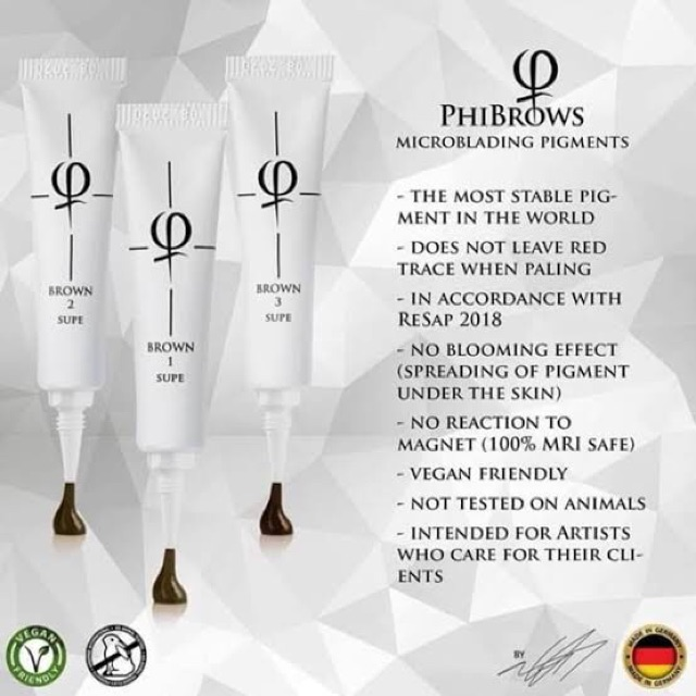 PHIBROWS SUPE PIGMENT 5ML for Brow Microblading