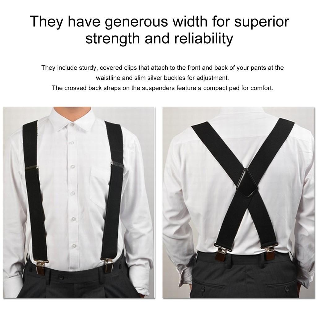 5ce7f03bf Mens Women Adjustable Y-Shape Braces Suspenders Clip-On Belt Suit Pants