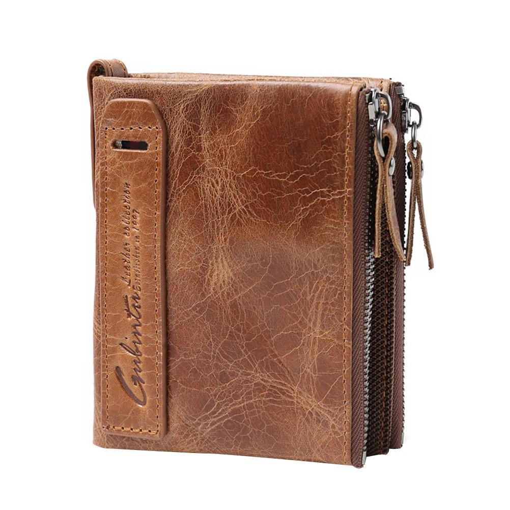 e6f7a5136dc1 PU Leather Zipper Men Wallets Card Holder Coin Money Purse Fashion