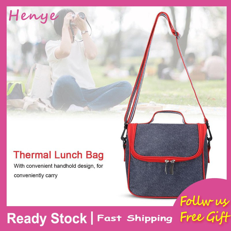 e7f91c322ae6 Bag Picnic Tote Bento Lunch Insulated Thermal Storage Cooler