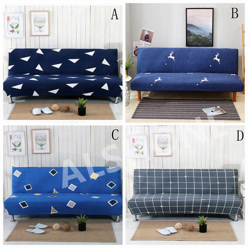 Foldable Sofa Bed Slipcover Armless