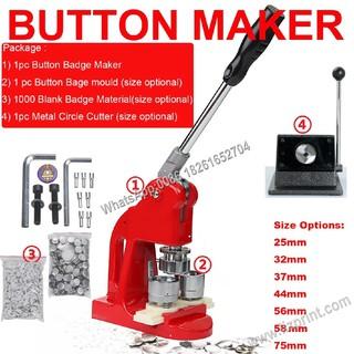 DIY Pin Button Machine Button Badge Maker Punch Machine+Gift