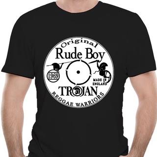 T-SHIRT TROJAN Rocksteady Ska Studio One Rude Boy Roots Skin Reggae 60/'s Dub