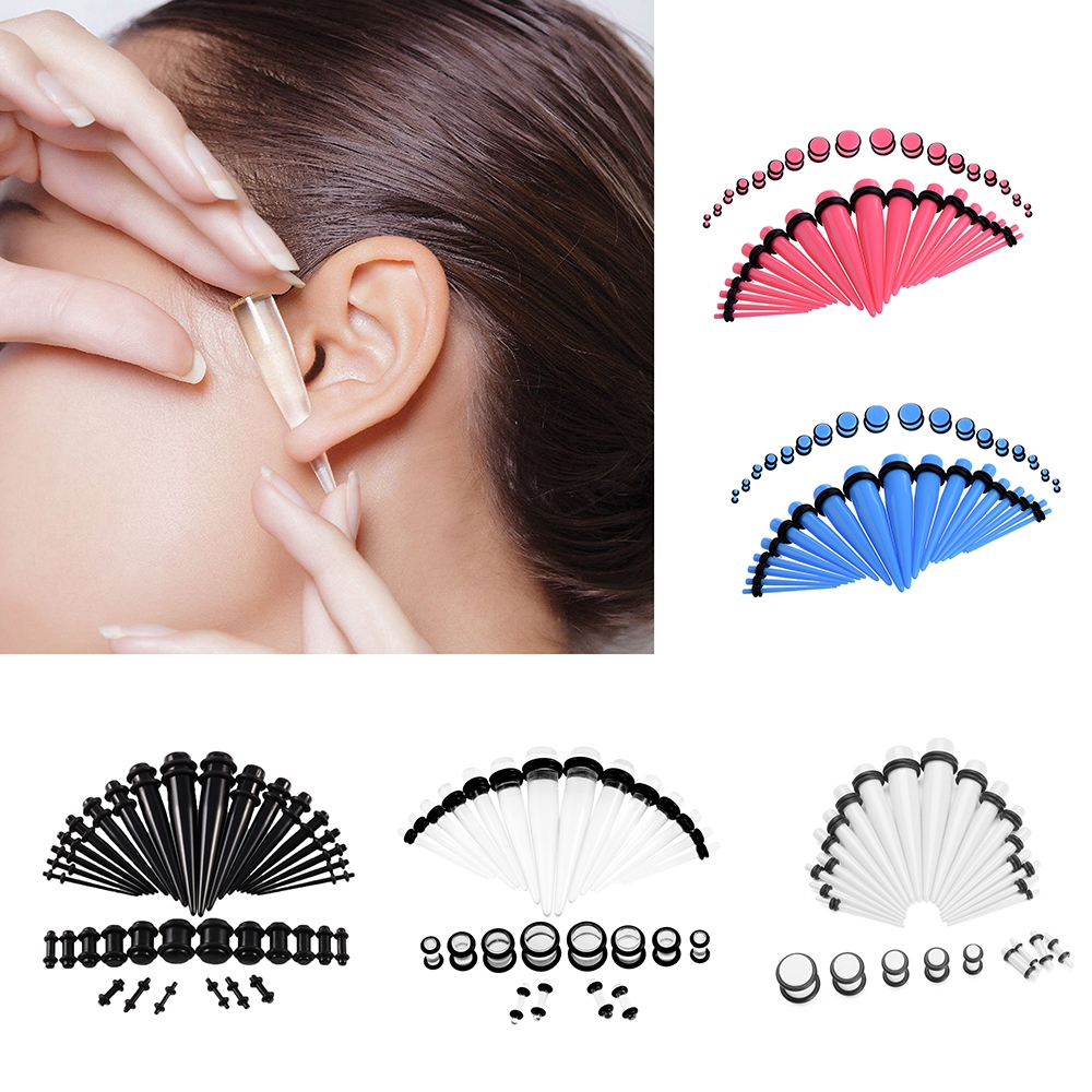 36Pcs/Set Acrylic Ear Gauge Taper Tunnels Plugs Starter Expander Stretching  Kit