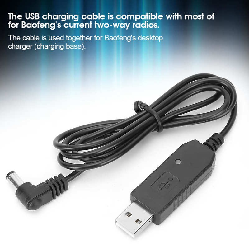 Lightweight Cable Portable Easy to Carry 5PCS USB for Walkie Talkie