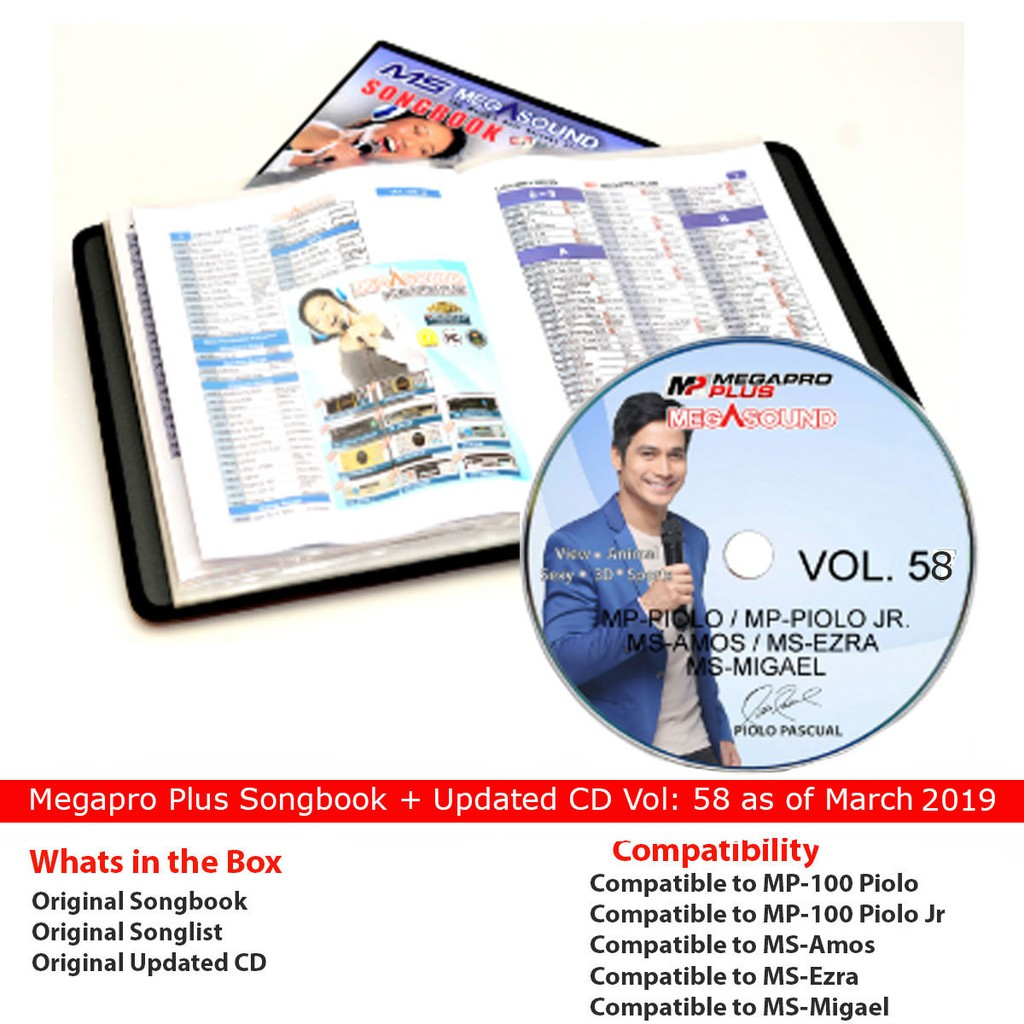 Megapro Cd volume 58 / mp100/mp200 + Songbook