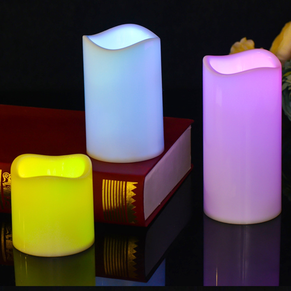 Simulation Candle Remote Control Wedding Supplies Night Light Led Color Changing Timing Bedroom