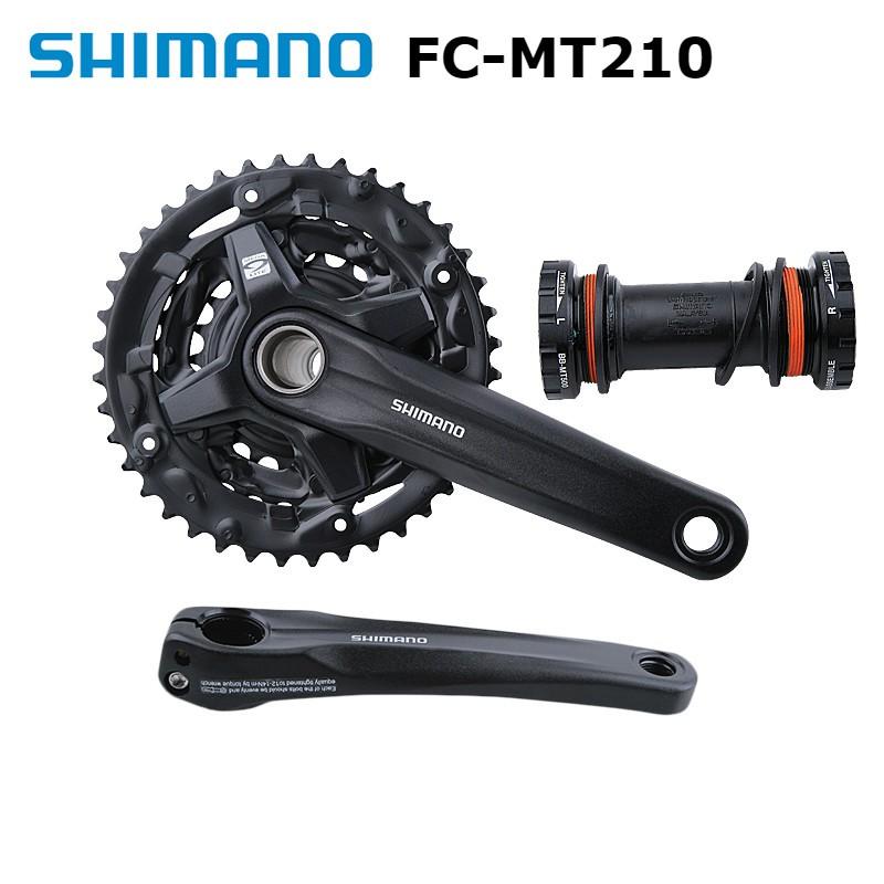 SHIMANO FC-MT210 crankset 170MM 22T-32T-44T\22-30T-40T 9\27 speed  Hollowtech MTB crankset | Shopee Philippines