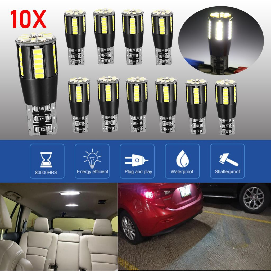 T10 COB Bulbs W5W 501 Car Lights Error Free LED Sidelight SMD Hid CANBUS White