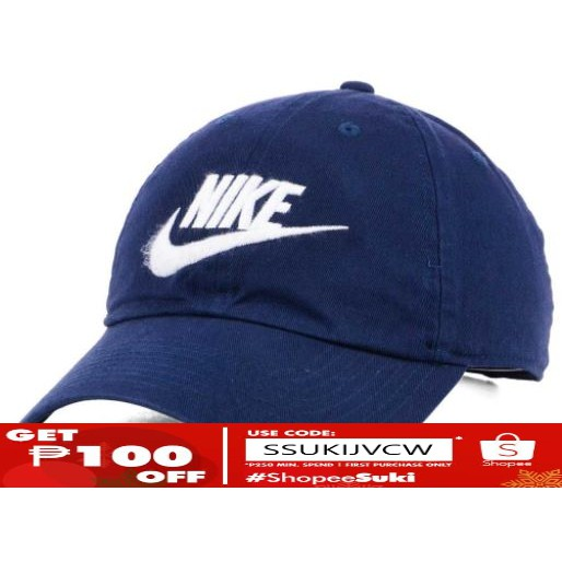 buy online 23a7c 30400 Nike Futura Washed 86 Cap NAVY BLUE   Shopee Philippines