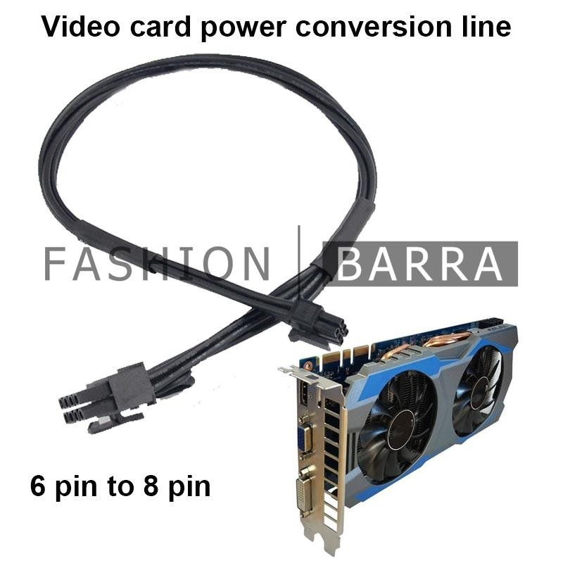 Fas Mini 6Pin Male To 8Pin Male Graphics Card