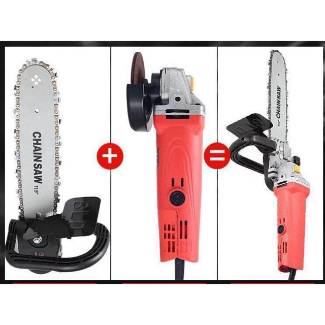 Chainsaw bracket and angle grinder
