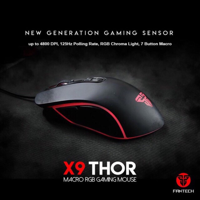 Original Fantech X9 Thor Macro RGB Pro Gaming Mouse | Shopee Philippines