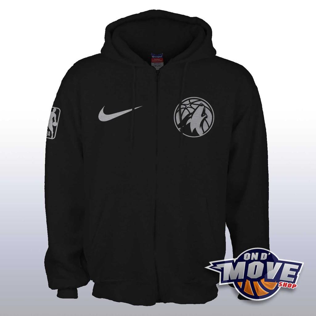 Nba Minnesota Timberwolves Hoodie Black Edition Shopee Philippines
