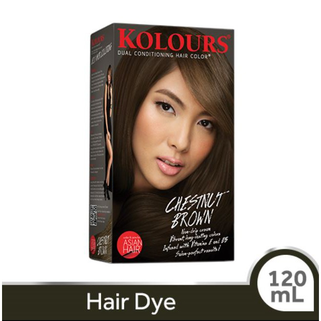Kolours Hair Dye Chestnut Brown 120ml Shopee Philippines