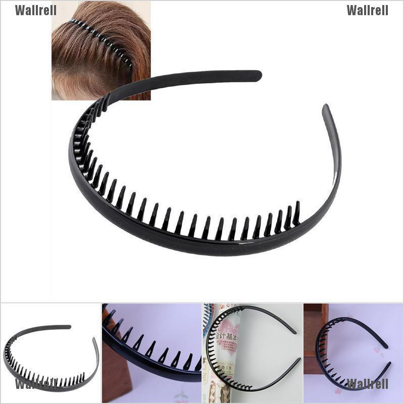 Mens Toothed Sports Football Soccer Headband Hair Band Black Portable Gift FO