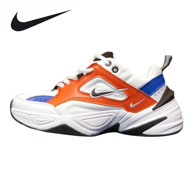 new concept b25f3 21e07 Nike Air M2K Tekno Men s and Women s Running Shoes ,White   Orange,  Breathable L   Shopee Philippines