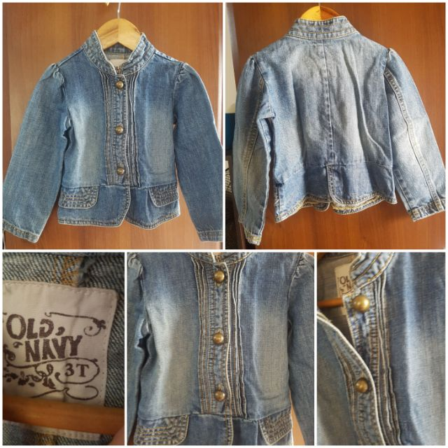 Old Navy Denim Button Front Vest Kids Preowned Size 3T