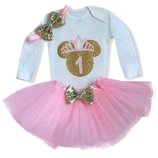 1622f44fe18cb NNJXD]Baby Set 1st Birthday Outfits Girl Party Tutu Clothes 3pcs ...