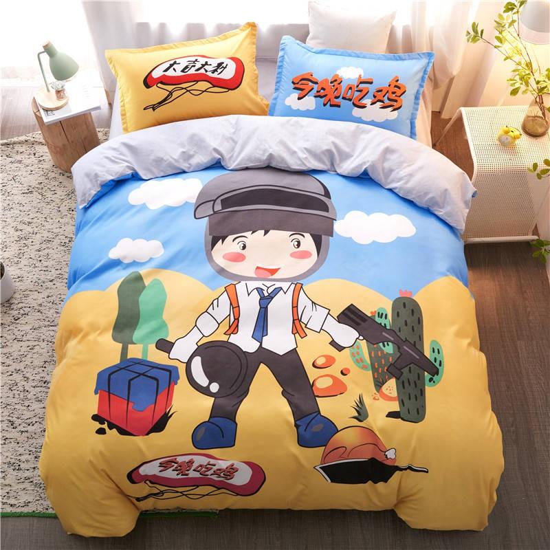 Bedding Children S Three Piece Set Children Cartoon Bed Sheets Shopee Philippines