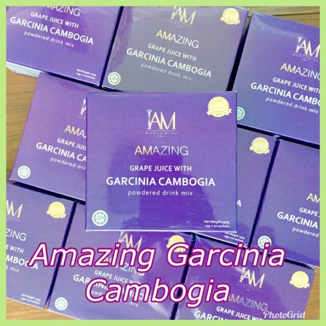 Iam Amazing Grape Juice With Garcinia Cambogia Powdered Drink Mix
