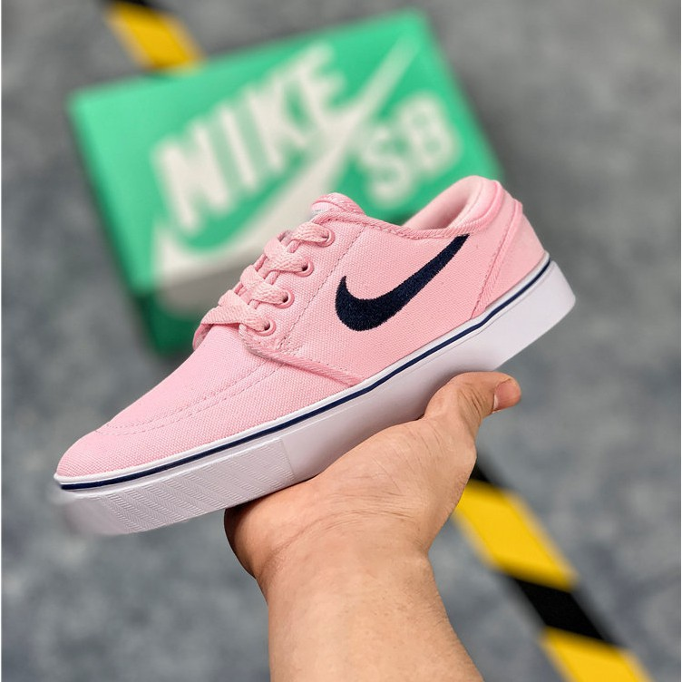 Ready Stock Nike Wmns Nike Sb Blazer Zoom Mid Qs Low-cut Pink Sneakers Shoes For Women
