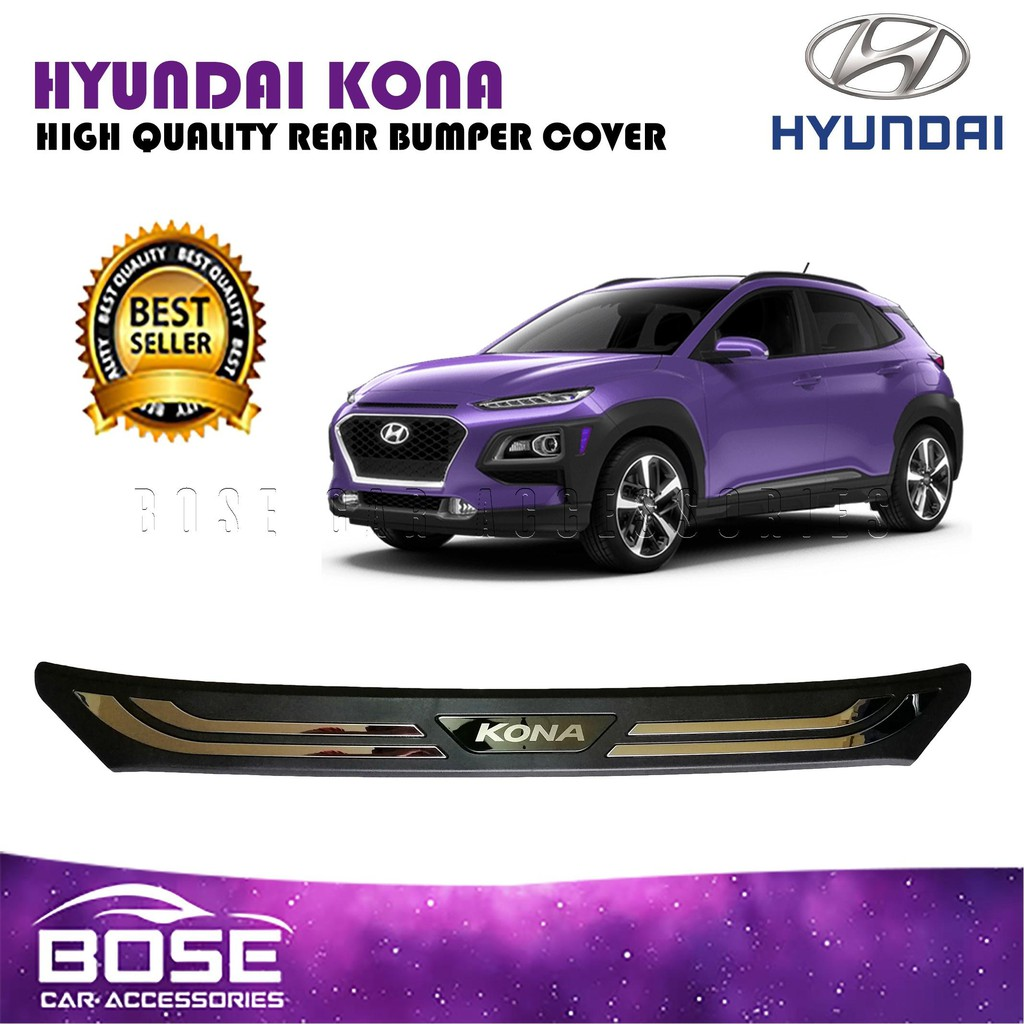 Hyundai Kona 10 10 Rear Stepsill Rear Bumper Protector Scuffplate (Car  Accessories)