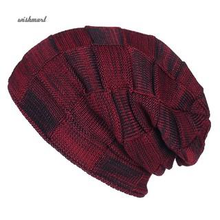 1fcf75c6f69c31 ☀WISH Winter Men Women Warm Beanie Fashion Casual Baggy Hip Hop Hat  Christmas Gift