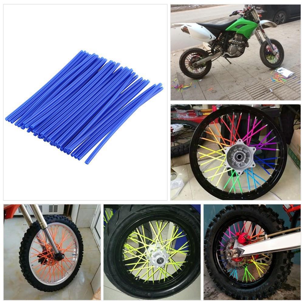 Colorful Motorcycle Steel Wire Wheel Rim Hub Cycle Spoke Wraps Casing Skin Cover