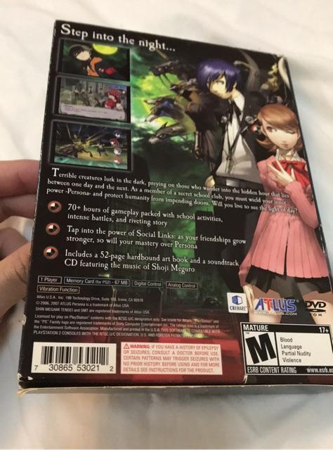 Shin Megami Tensei Persona 3 P3 Limited Edition PS2 | Shopee Philippines