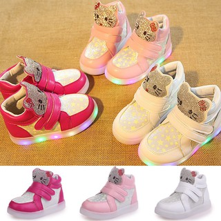 cd897d4a3 COD Kids LED light up hello kitty shoes boy girls neakers