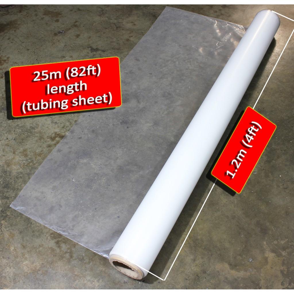 Polyethylene Sheet Pe Tube 25meters X 50 M 0 002