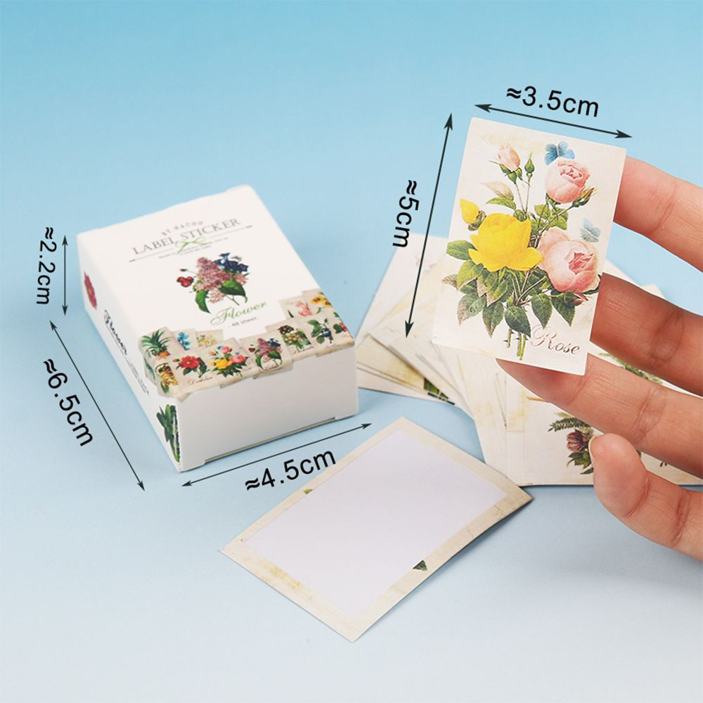 46 Pcs Flower Series Paper Sticker Diy Diary Decor For Album Scrapbooking Flower Stickers Flakes Stationery School Supplies Be Novel In Design Office & School Supplies