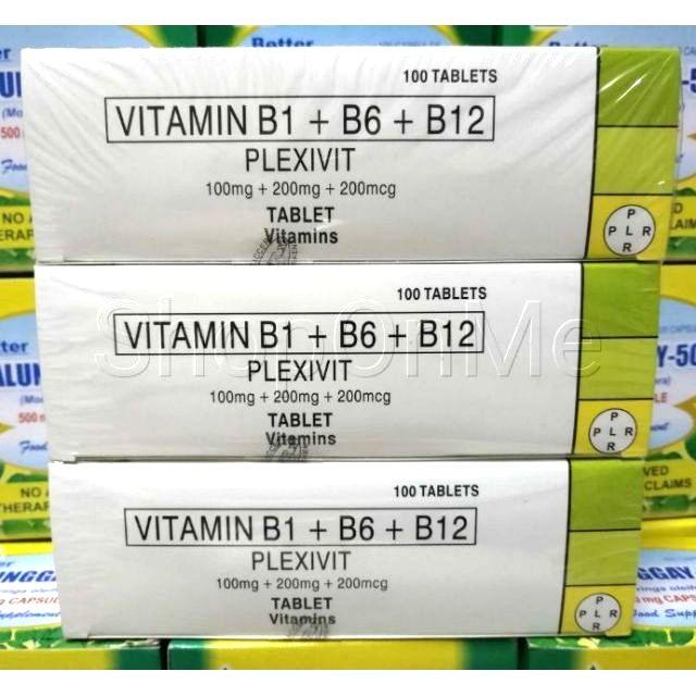 Vitamin B1 + B6 + B12 PLEXIVIT expiry:5/2021 B Complex