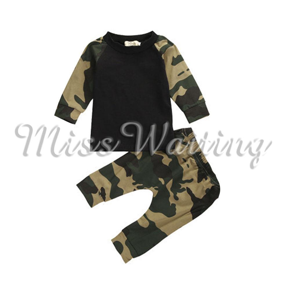 1a8f8e9db4e81 VCN Infants Newborn Baby Camouflage Clothes Outfits Floral Set Suit  Children Wear | Shopee Philippines