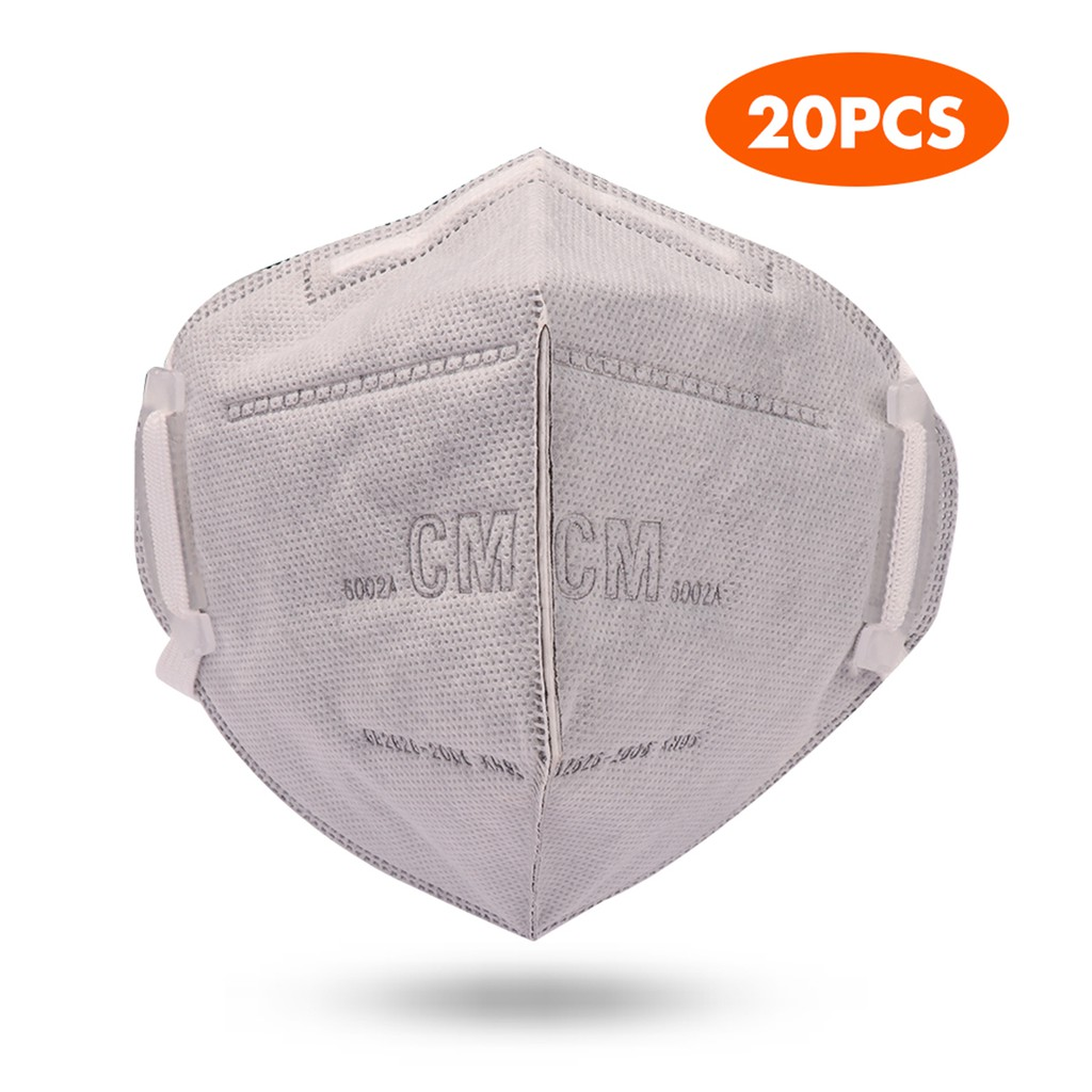 20pcs KN95 Particulate Respirator Mask Foldable Non-woven Anti-germ Face Protection Mask for Personal Health