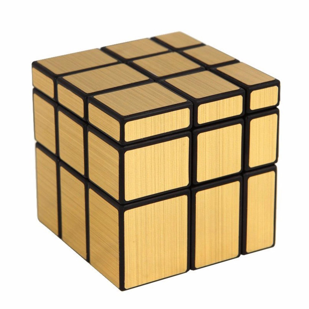 Rubik S Cube Magic Cube Mirror 3x3 Gold Black Shopee Philippines