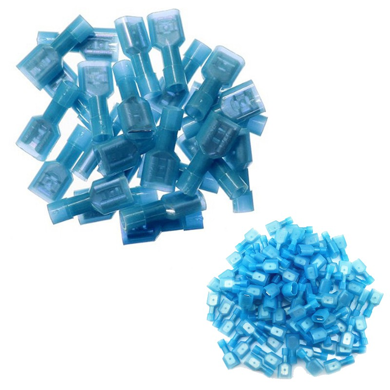 100pcs Fully Insulated Wire Crimp Terminal Nylon Quick Connectors on