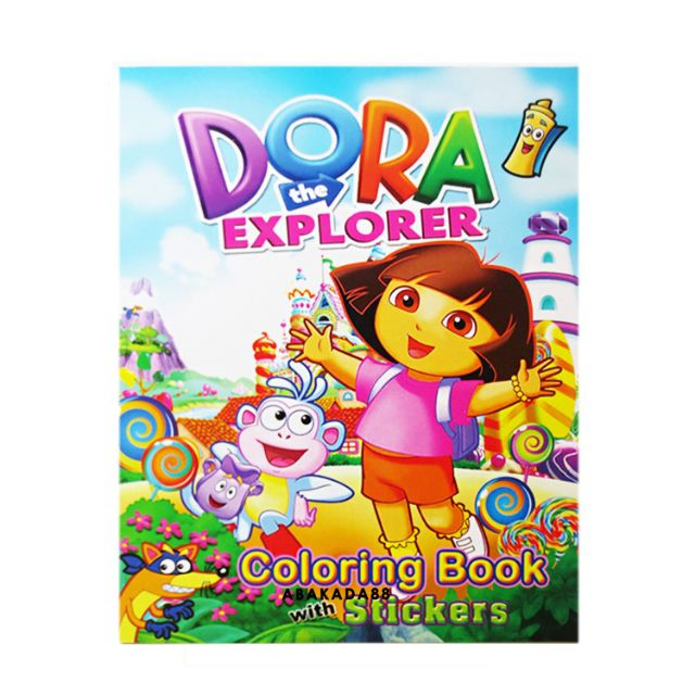 Dora The Explorer Coloring Book With Stickers Shopee Philippines