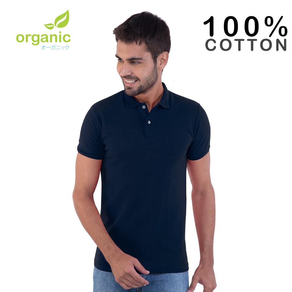 7224dc49063 Organic Mens Pique Lined Polo Shirt (White) Tees tshirt